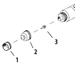 Färgmunstycke Revolution HP-BCR/CR/SAR 0,5 mm (ref 3)
