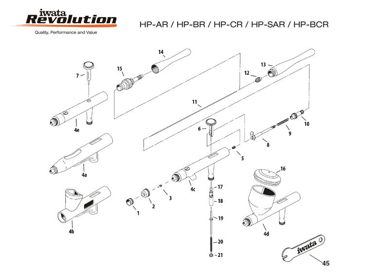 Nålskruv Revolution HP-AR/BR/CR/BCR/SAR (ref 12)