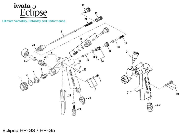 Iwata Eclipse G3/5 sprängskiss