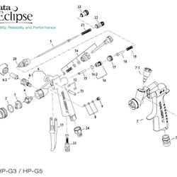 Nålpackningsset Eclipse HP-G3/G5 (ref 10)