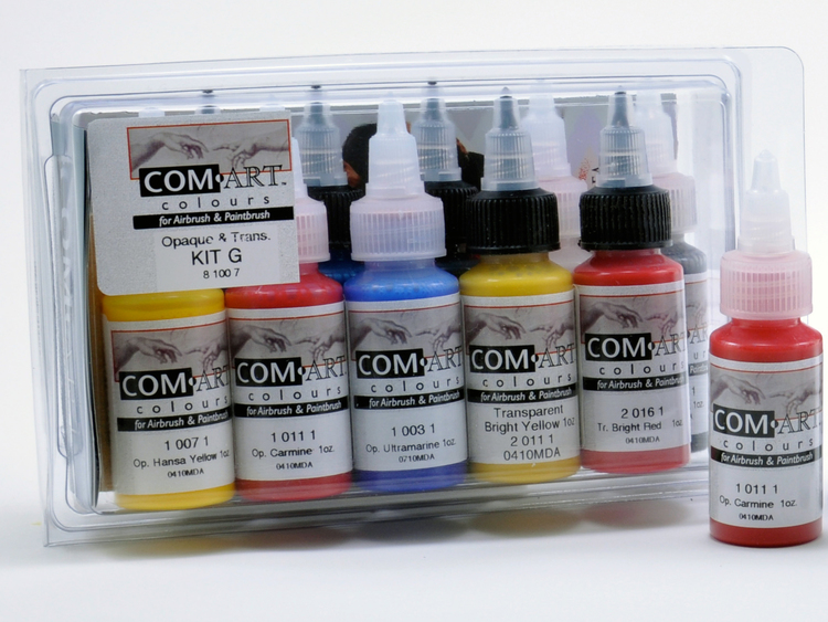 Com-Art Kit G Täckande/Transparent Färgkit