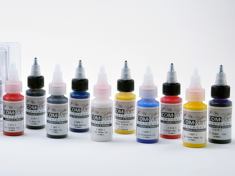 Com-Art Kit G Täckande/Transparent Färgkit