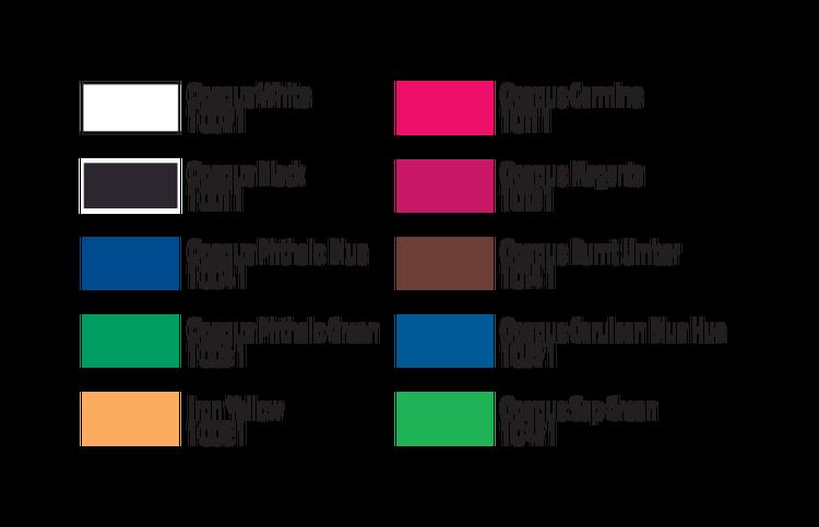 Com-Art Kit B Täckande Secondary Färgkit färgkarta