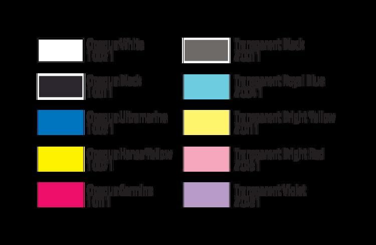 Com-Art Kit G Täckande/Transparent Färgkit färgkarta