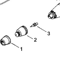 Färgmunstycke Hi-Line/High Perf. Plus HP-AH/BH/AP/BP/SBP 0,2 mm (ref 3)