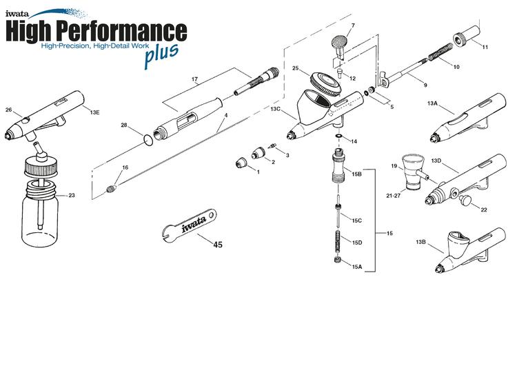 Iwata High Performance Plus sprängskiss