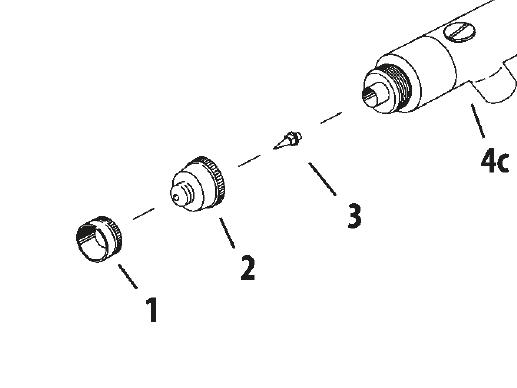Färgmunstycke Revolution HP-AR/BR 0,3 mm (ref 3)