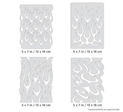 Artool Flame-o-rama Mini Series by Craig Fraser - Set med fyra airbrushmallar