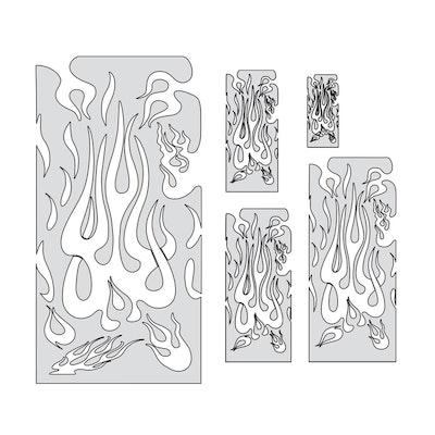 """Artool Flame Master by """"Mr. J"""" Julian Braet - Set med två airbrushmallar"""