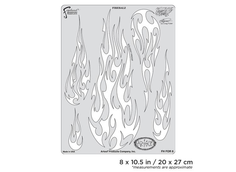 Artool Flame-o-rama 2 Firebalz by Craig Fraser airbrushmall