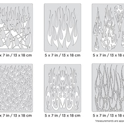 Artool Flame-o-rama 2 Mini Series by Craig Fraser - Set med sex airbrushmallar