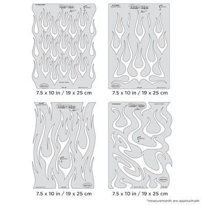 Artool Flame-o-rama by Craig Fraser - Set med fyra airbrushmallar