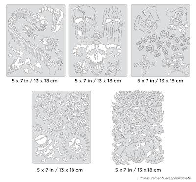 Artool Curse of Skullmaster Mini Series by Craig Fraser - Set med fem airbrushmallar