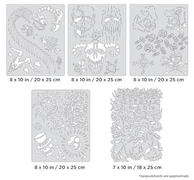 Artool Curse of Skullmaster Set by Craig Fraser - Set med fem airbrushmallar