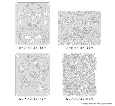 Artool The Return of Skullmaster Mini Series by Craig Fraser - Set med fyra airbrushmallar