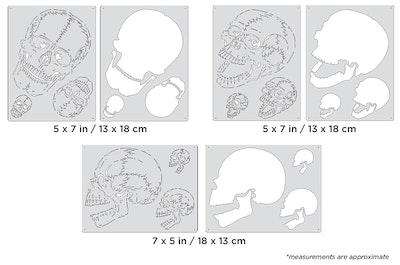 Artool Horror of Skullmaster Mini Series by Craig Fraser - Set med tre airbrushmallar