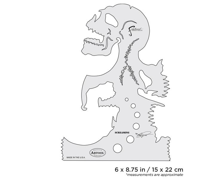 Artool Skullmaster Screaming by Craig Fraser airbrushmall