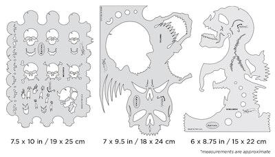 Artool Skullmaster Set by Craig Fraser - Set med tre airbrushmallar