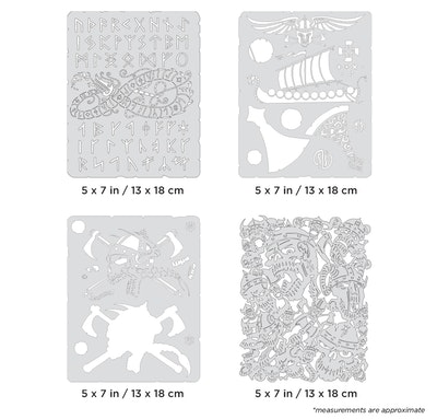 Artool Viking FX Mini Series by Craig Fraser - Set med fyra airbrushmallar