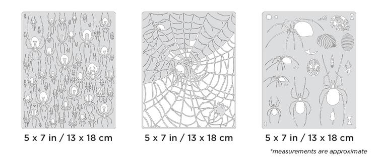 Artool Spider Master Mini Series by Craig Fraser - Set med tre airbrushmallar