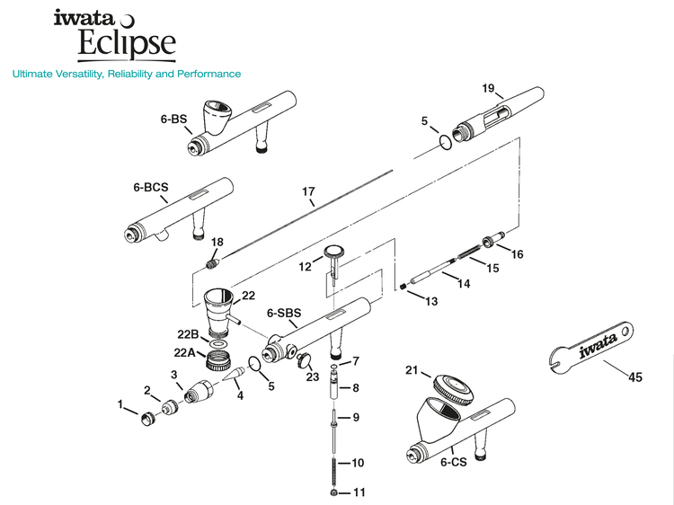 Färgnål 0,5 mm Eclipse HP-BCS (ref 17) Revolution HP-CR/BCR/SAR (ref 11)