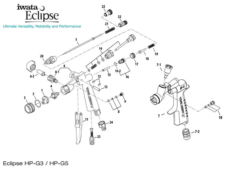 Iwata Eclipse G3/G5 sprängskiss