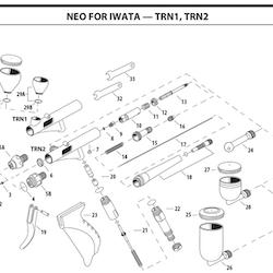 Färgmunstycke NEO HP-TRN2 0,5 mm (ref 3)