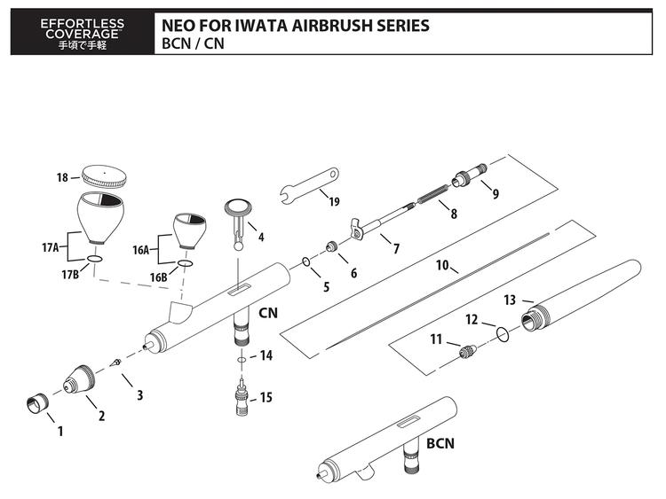Munstyckskåpa NEO HP-BCN 0,5 mm (ref 2)