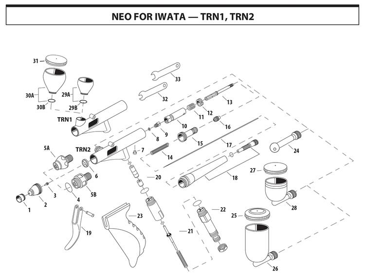 Munstyckskåpa NEO HP-TRN2 0,5 mm (ref 2)