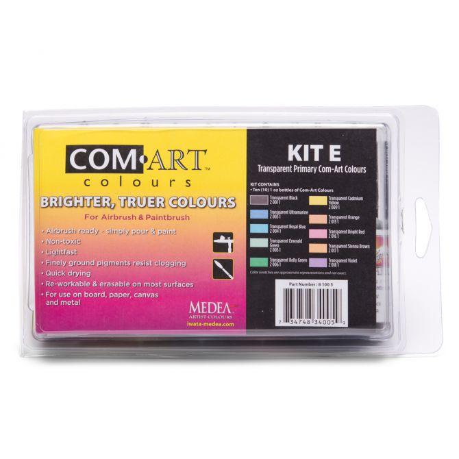 Com-Art Kit E Transparent Primary Färgkit