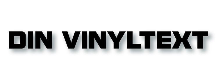 Konturskuren vinyltext 30cm