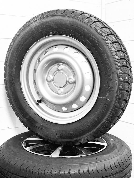 """Hjul med dubbdäck 13"""" 155/80R13C8"""