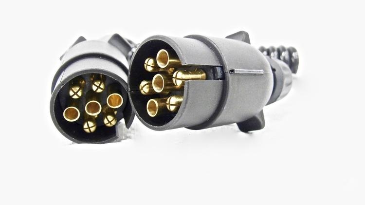 Spiralkabel 7 pin + 7 pin 1,5m