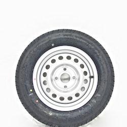 """Hjul med sommardäck till släpvagn 13"""" 155/80R13"""