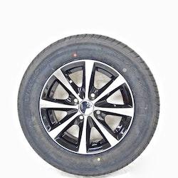 """Aluminum hjul med dubbdäck 13"""" 155/80R13"""