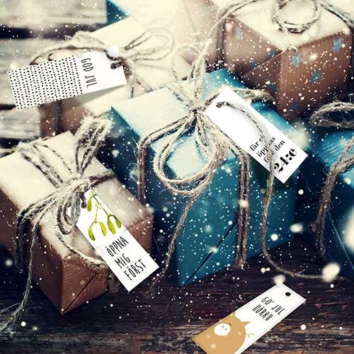 Hangtag: God Jul och Gott Nytt År