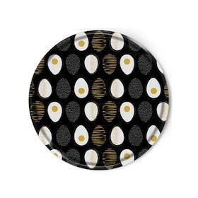 Rund bricka: Ägg