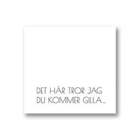 Gratulationskort: Gilla