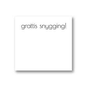 Gratulationskort: Snygging