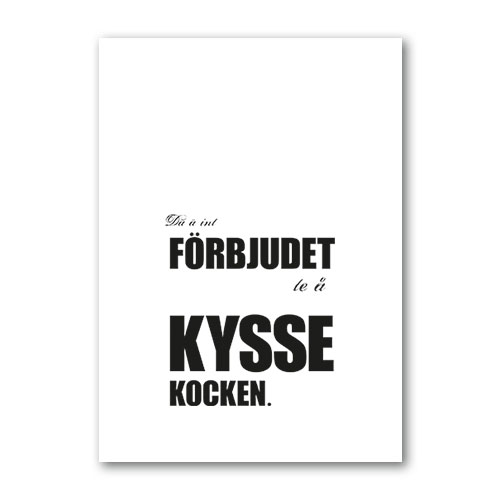 Poster: Kyss kocken