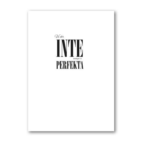 Poster: Vi perfekta