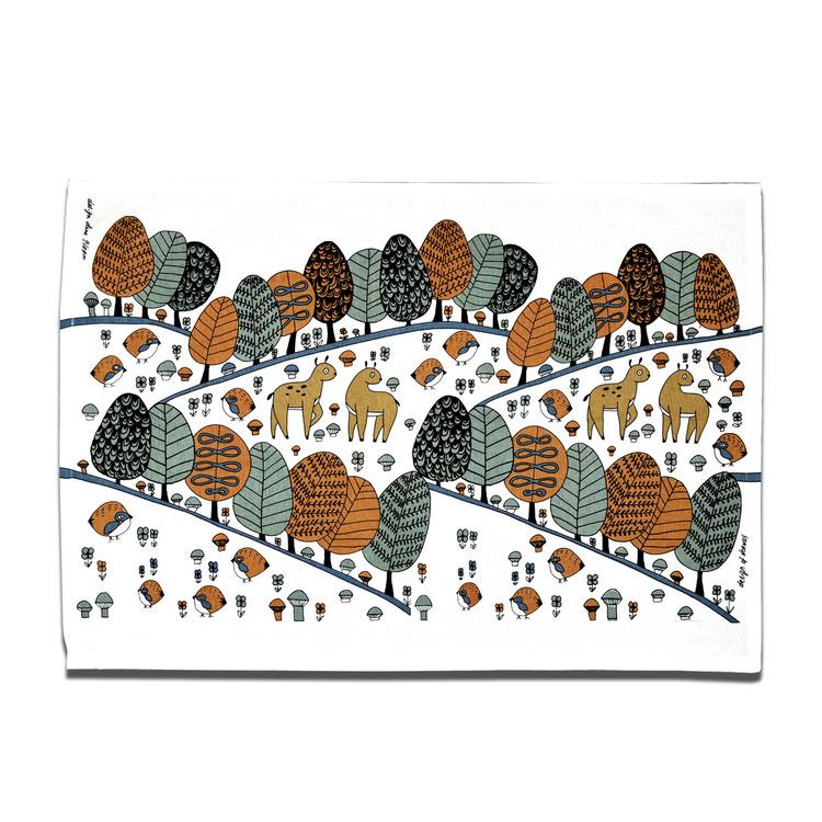 """Kjøkkenhåndkle """"Raslende Trær"""" Fabelskog"""