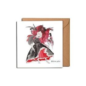 """Kunstkort """"Slem Pike """"#03"""