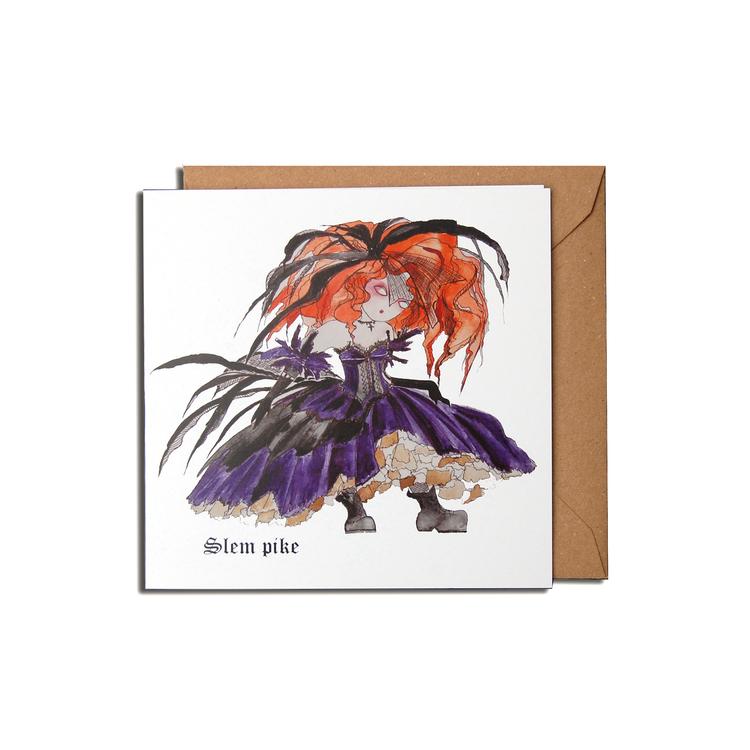 """Kunstkort """"Slem Pike """"#04"""