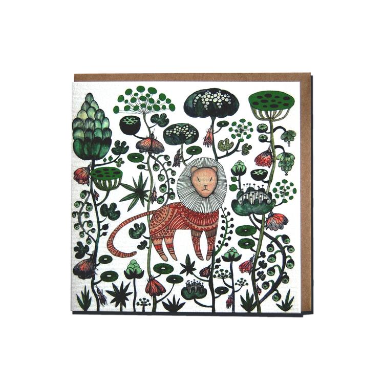 """Kunstkort """"Løve"""""""