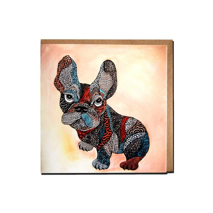 "Kunstkort ""Fransk bulldog """