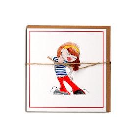 "Kunstkort ""Mote-jente"" #01"