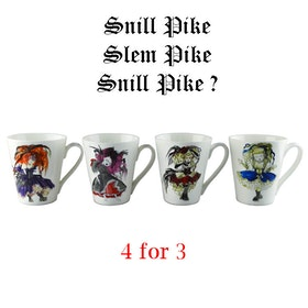 """4 kopper """" Snill Pike Collection"""
