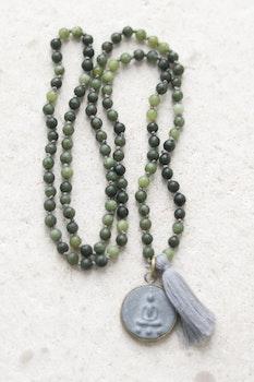 Handknutet Mala Oliv jaspis