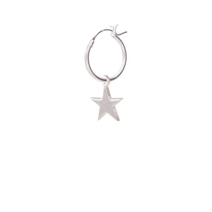 Big Star Sterling Silver Hoop Earring